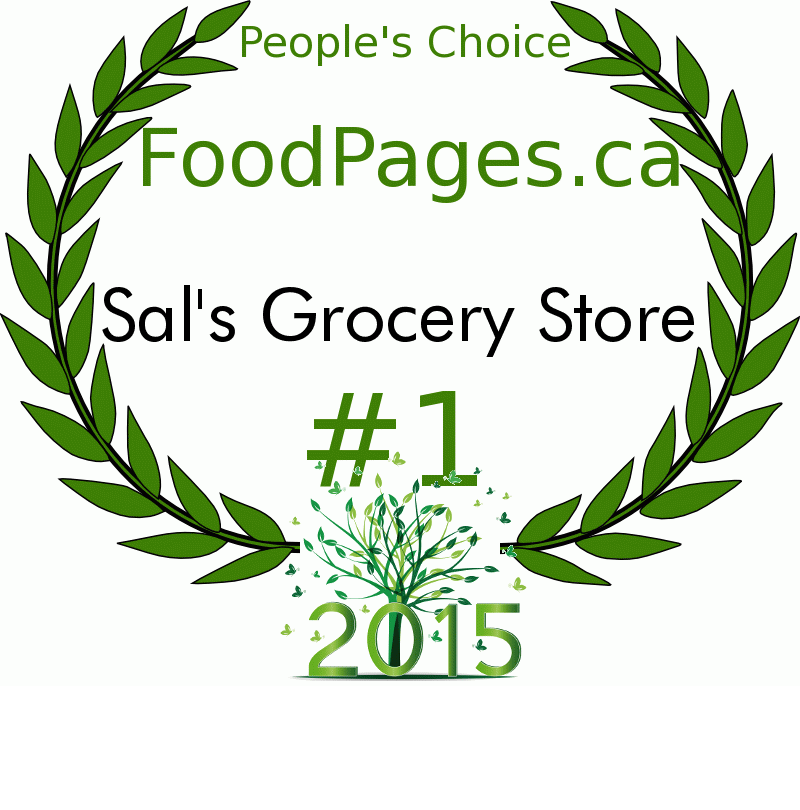 Sal's Grocery Store FoodPages.ca 2015 Award Winner