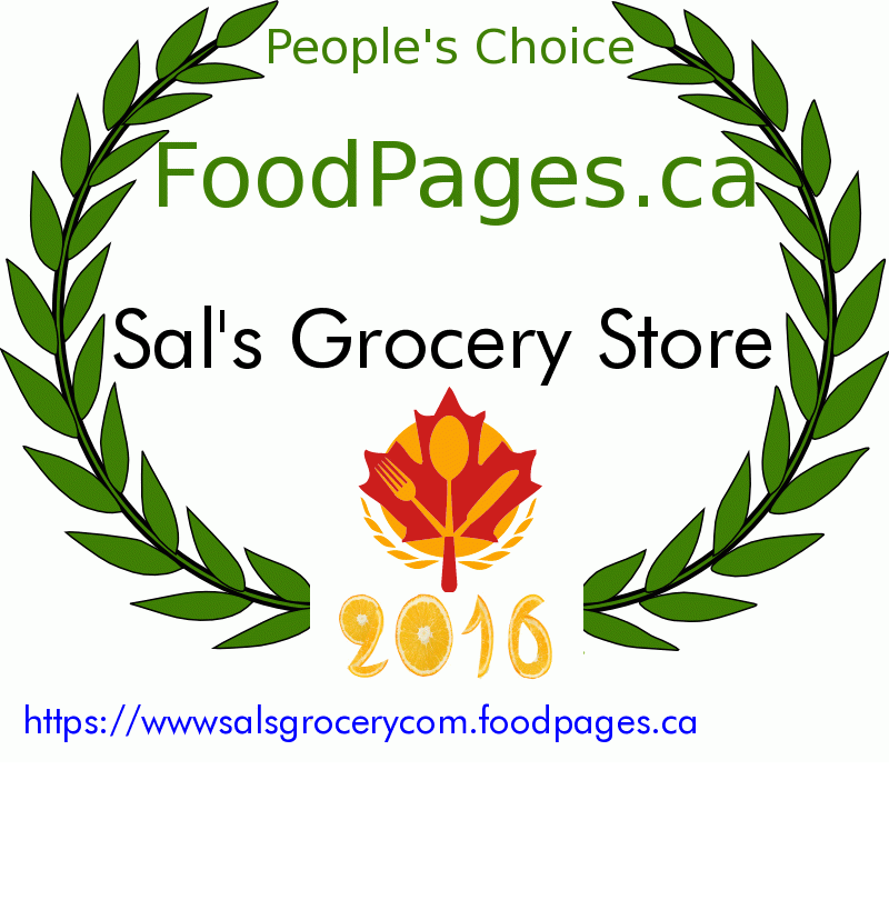 Sal's Grocery Store FoodPages.ca 2016 Award Winner