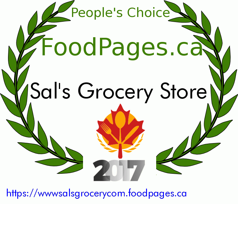 Sal's Grocery Store FoodPages.ca 2017 Award Winner